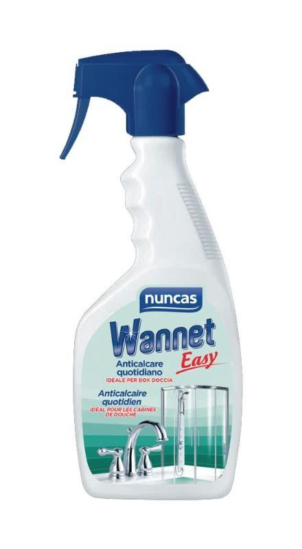 Wannet easy blu anticalcare quotidiano 500ml ideale per docce