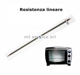 Resistenza  w 410 mm 340 v 115 innesti a faston con staffa