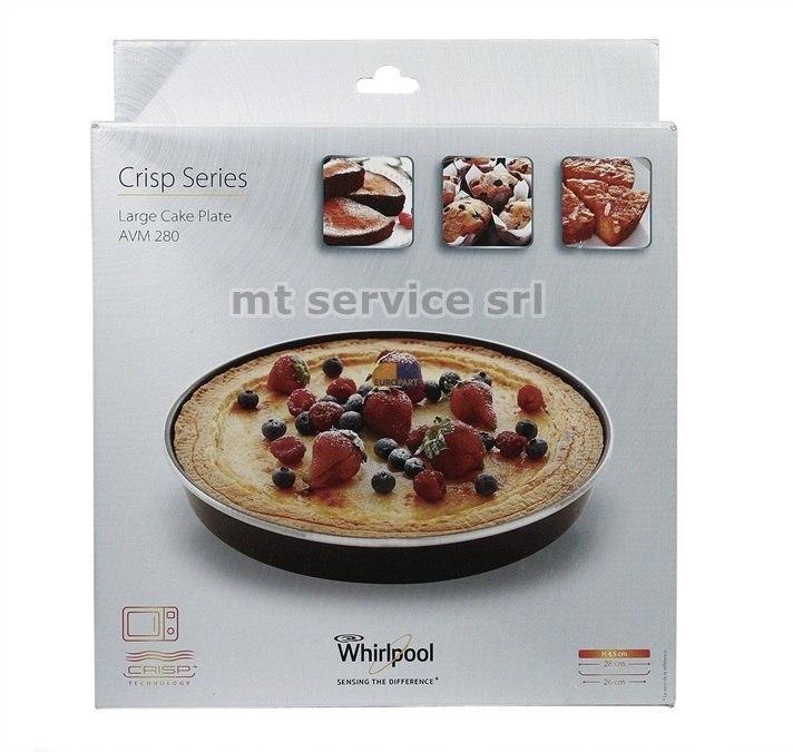 Whirlpool piatto crisp tortiera per forno a microonde - Forno a microonde funzione crisp ...