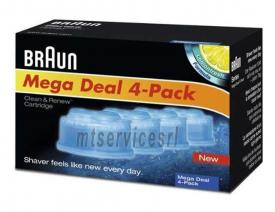Pack di 4 cartucce braun  ccr4 mega deal clean & renew cartridge